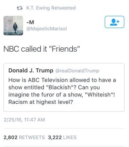 Blackish Trump