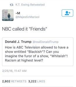 Blackish Trump